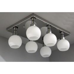 Srebrna plafoniera sevinc 3051-6 lampa srebro na prostokącie 6x60w