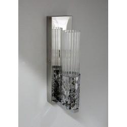 Srebrny kinkiet sevinc 2785 srebrna lampa ścienna 1x40w