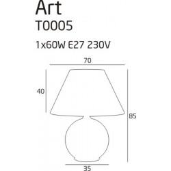 Bot LT 35 - Vistosi - lampa biurkowa